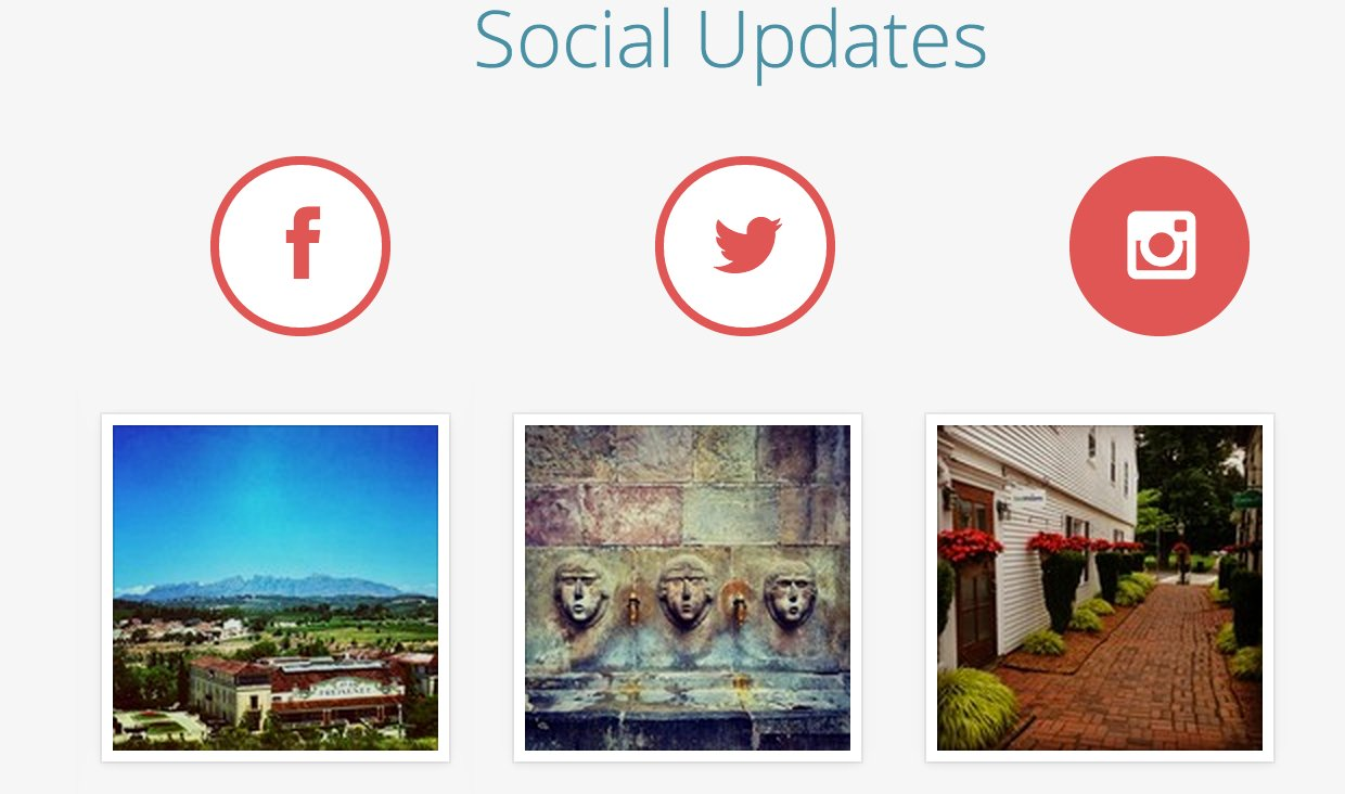 Social updates on the GeoVisions Home Page