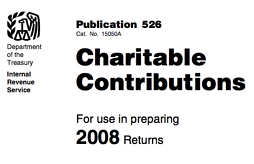 Publication 526 from the IRS