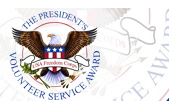 The seal of the President's Volunteer Service Award.