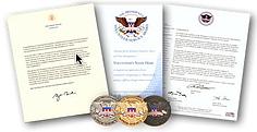 Awards from the President's Volunteer Service Award.
