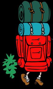 cartoon backpacker