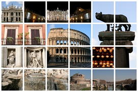 Collage of Rome.
