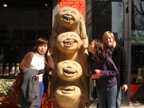One of our interns in the art distric of Beijing.