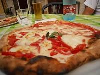 Fresh pizza from Italy.