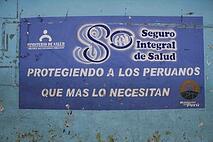 Cusco clinic sign.