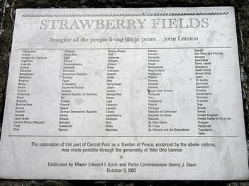 Part of John Lennon's memorial