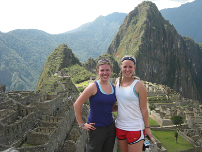 Kelsey and Alex in Peru