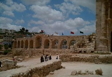 Ancient buildings in Jordan.