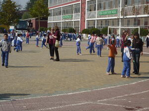 Recess at the Bai Nian School in Beijing