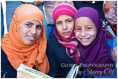 Young Jordanian girls near Petra
