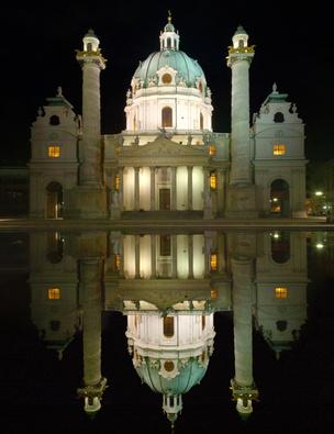 Vienna at night.