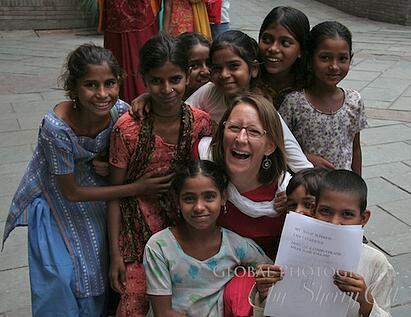 Sherry Ott volunteering in India