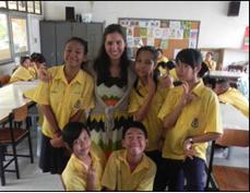 Carla Gott teaching English in Thailand