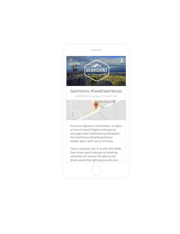 image of GeoVisions mobile app