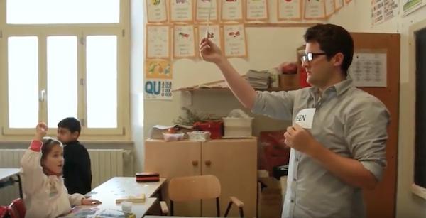 An English teacher teaching English in Italy.