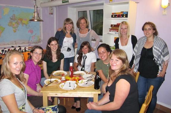 Au Pairs attending a GeoVisions Au Pair social event.