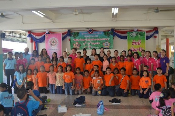 A group photo of campers and their GeoVisions counselors.