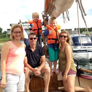 Au Pair Abroad in the Netherlands out for a Sunday cruise with her host family.