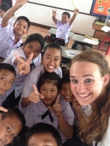 Amanda learned about about herself, while helping Thai children during her work abroad adventure