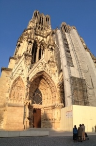 Kelsi makes side-trips, like this one to the Cathederal de Notre Dame in Reims, while working as an au pair in France