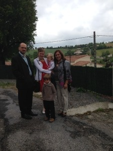 Graciela with her host family in Castres