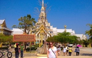 A Teach in Thailand teacher in front of the Grand Palace.