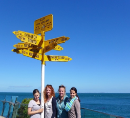 Heidi traveled around New Zealand with friends from around the world, while working as an au pair