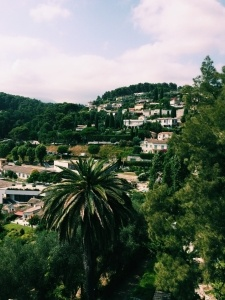The view from the village in St. Paul de Vence, a small area just outside of Vence (South France) where Kayla spent most of her time as an Au Pair in France