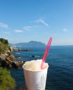 Au Pair Abroad enjoying an Italian icee.